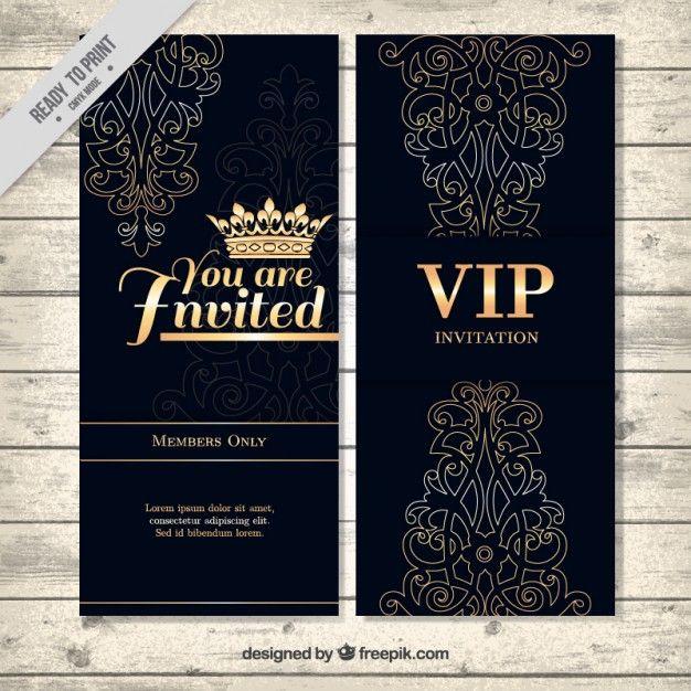 Invitación de lujo vip Vector Gratis