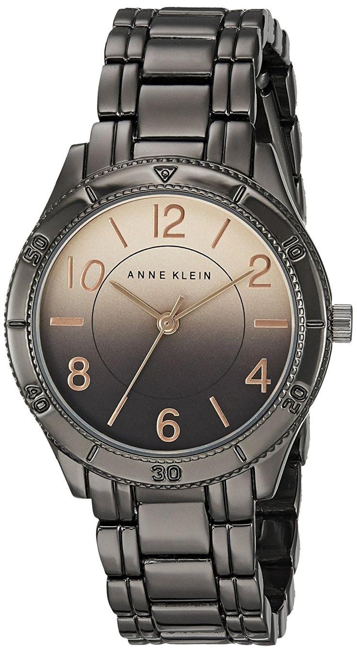Anne Klein Women's AK/2069RDGY Rose Gold-Tone Degrade Dial Gunmetal Bracelet Watch *** For more information, visit image link.