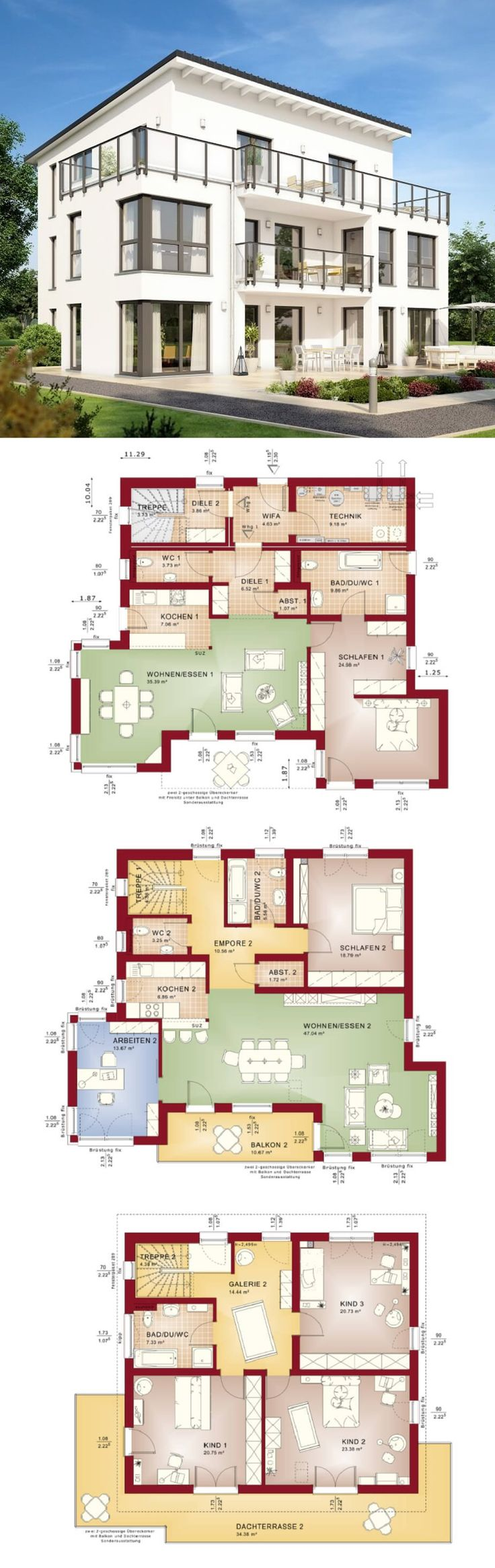 Die besten 25 hauspl ne ideen auf pinterest 4 zimmer for Zweifamilienhaus grundriss fertighaus