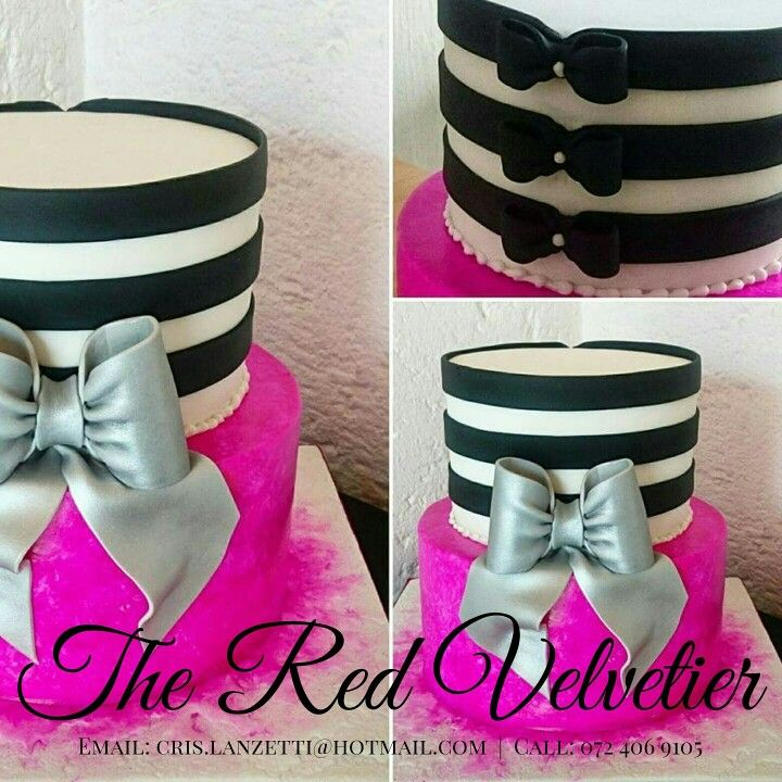 Simply elegant with horizontal lines and cerise pink