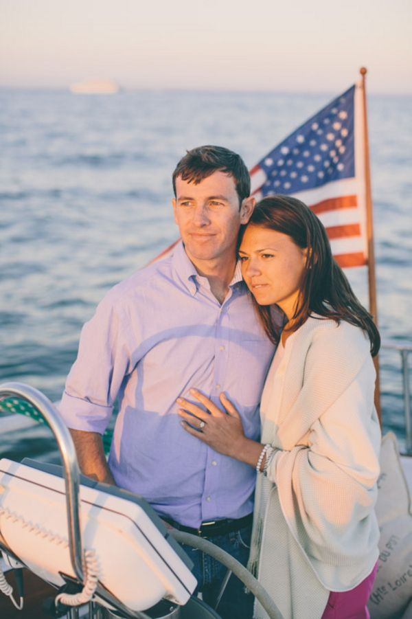 In luv with this nautical engagement on a boat!!