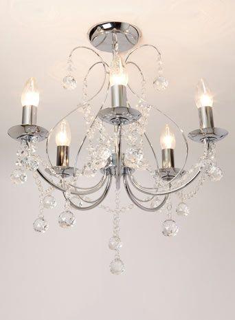 Sapparia 5 Light Flush Chandelier - lighting - home & lighting  - Sale & Offers