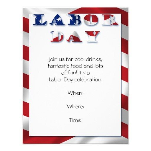 Best Labor Day Bbq Party Invitations Images On