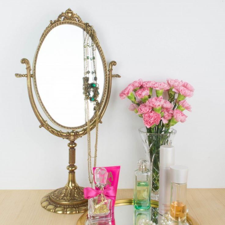Espejo de tocador de bronce | Antic&Chic