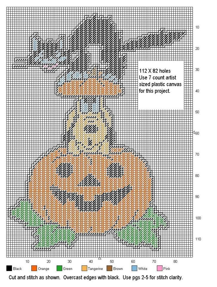 This is a photo of Playful Free Printable Halloween Plastic Canvas Patterns