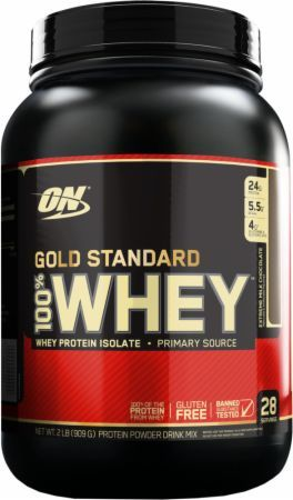 Optimum Nutrition Gold Standard 100% Whey Extreme Milk Chocolate 2 Lbs. OPT217 Extreme Milk Chocolate - 24g of Whey Protein with Amino Acids for Muscle Recovery and Growth*