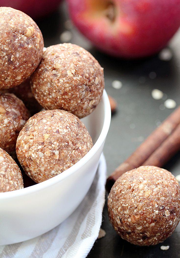Easy Cinnamon Apple Energy Balls Recipe Apple Recipes Healthy