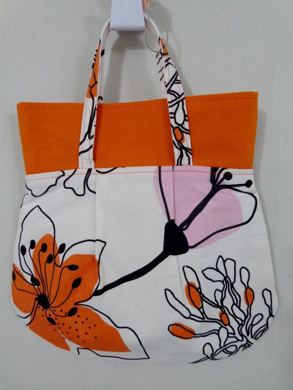 White Orange Pink Large Print IKEA Small Purse Mini