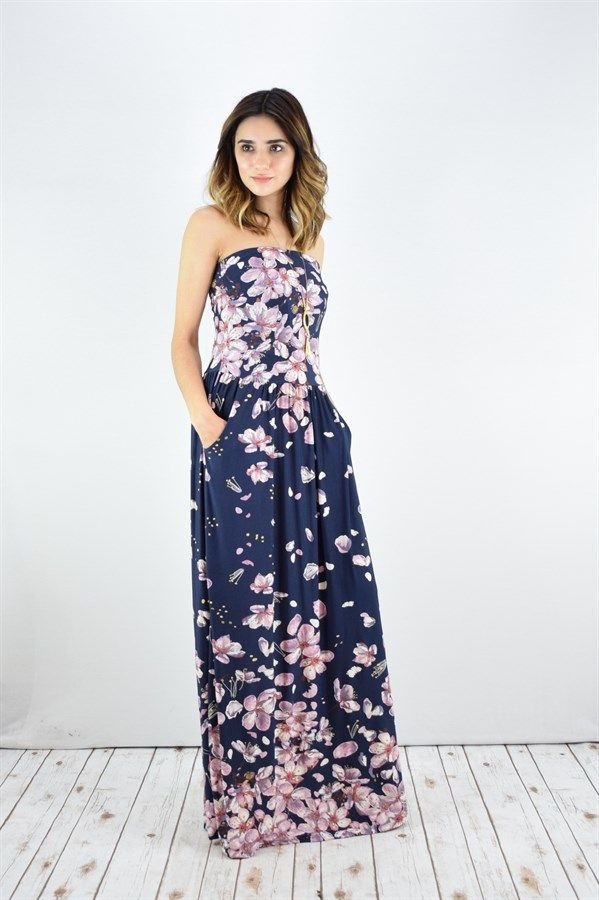 Pocketed Tube Top Maxi Dress | S-XL