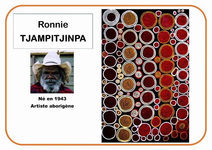 Ronnie Tjampitjinpa ronds- Portrait d'artiste plein d'affiches très simples pour différents artistes