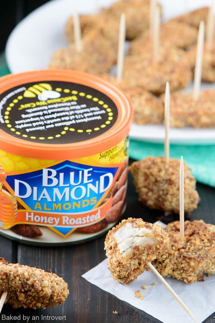 Honey Roasted Almond Crusted Chicken Bites