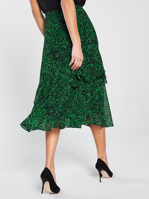 ee053e1a9 WHISTLES Jungle Cat Print Midi Skirt in 2019 | Spring 2019 | Midi ...