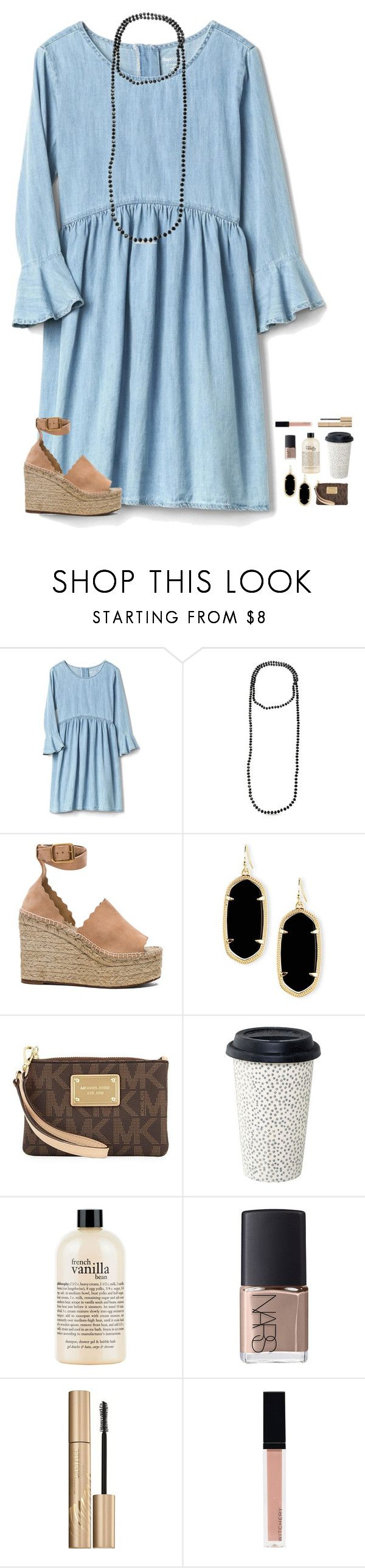 """let it be "" by elliegracee ❤ liked on Polyvore featuring Chloé, Kendra Scott, MICHAEL Michael Kors, philosophy, NARS Cosmetics, Stila and Witchery"