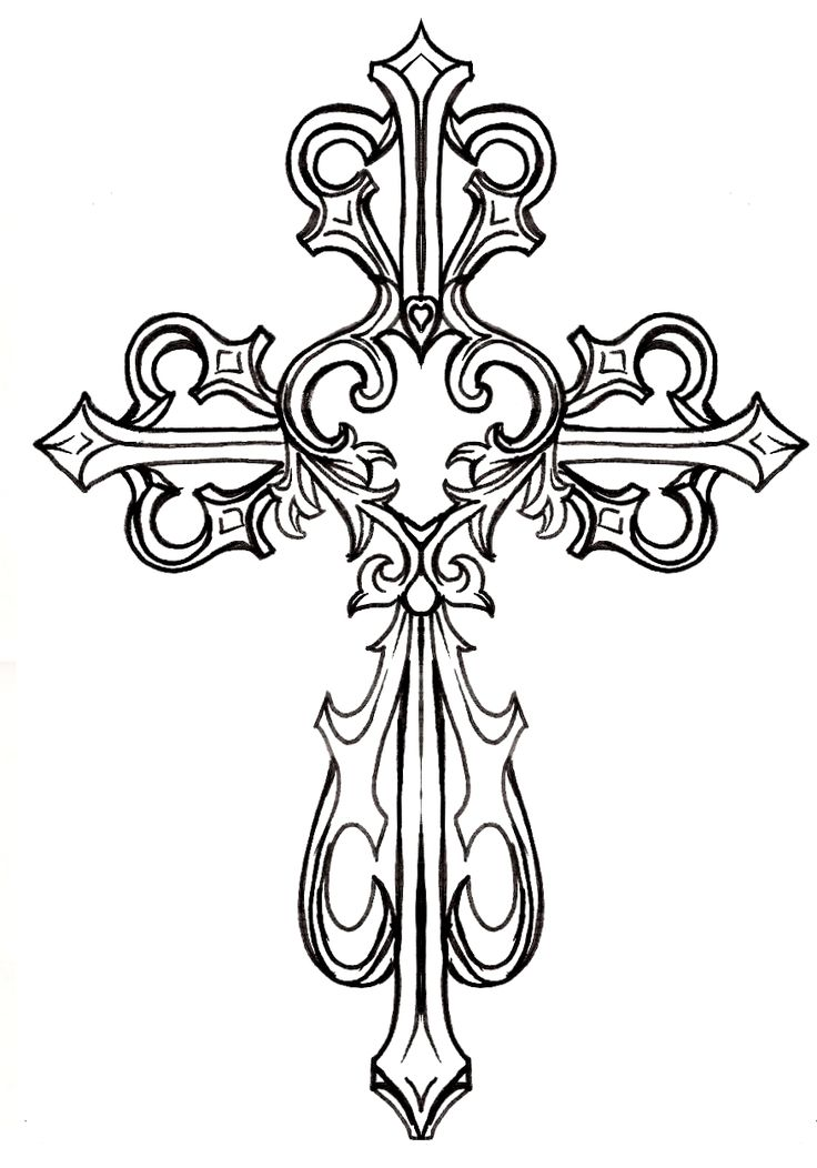 Ornate Cross with Heart Tattoo by ~Metacharis on deviantART