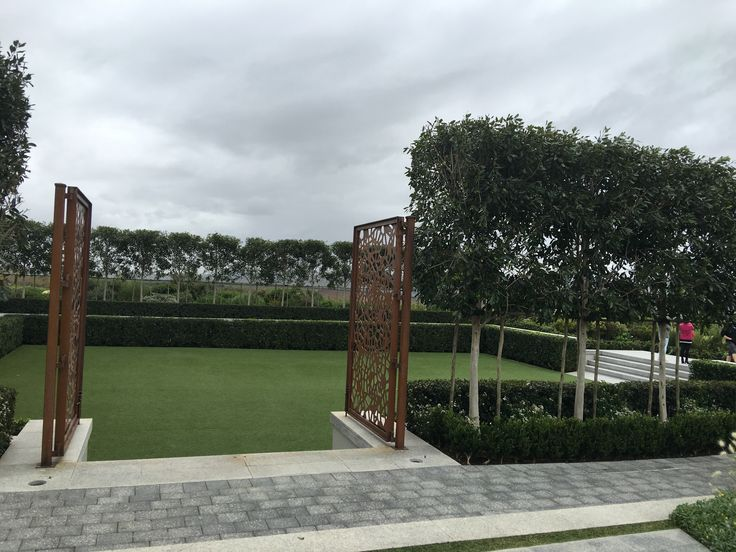 Ceremony area, heels-friendly because the ground is astro turf