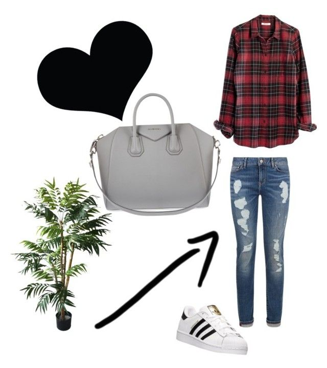 """""""Untitled #6"""" by tilda-hedblom on Polyvore featuring Madewell, adidas, Givenchy and TradeMark"""