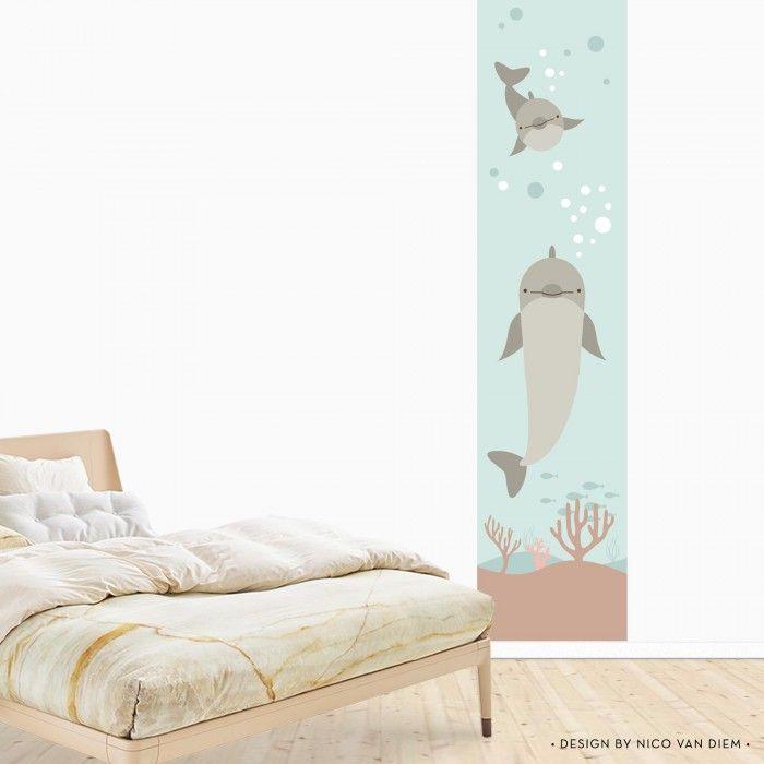 Muursticker Behangbaan Dolfijn