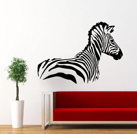 Muro Decalcomanie Zebra Animali Giungla Safari Africano Dei Bambini Decor  Vinyl Sticker Wall Decal Vivaio Camera