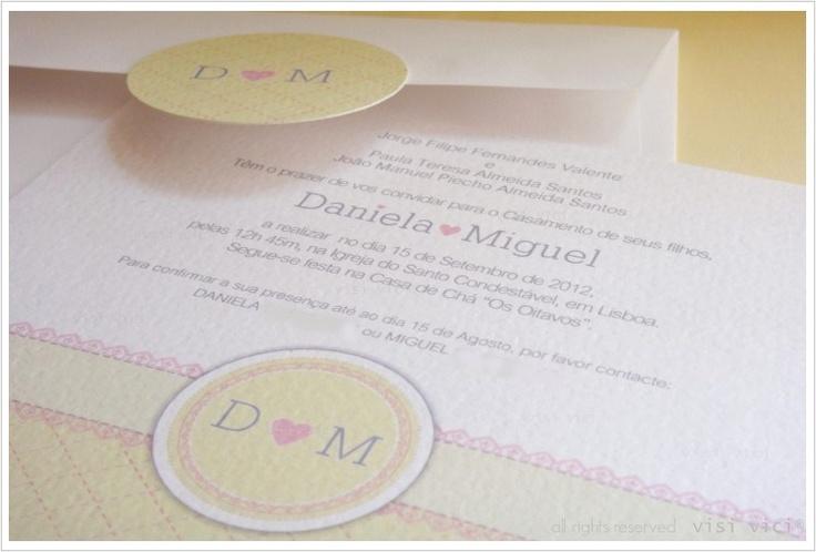 Soft wedding Invitation   pink   yellow