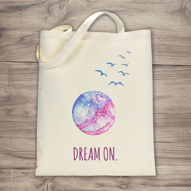 Dream On Illustrasyon Bez Çanta Zet.com'da 45 TL
