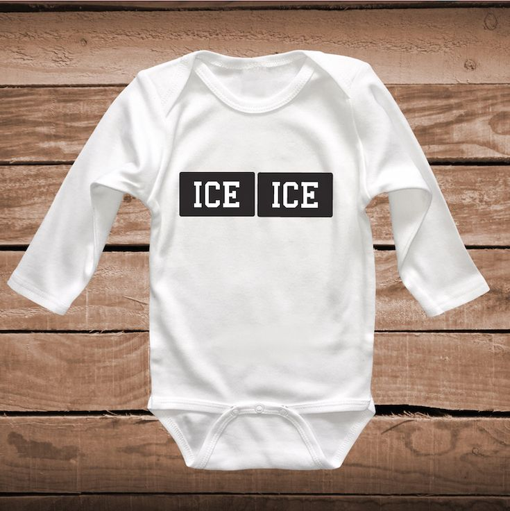 Ice Ice Baby Cute Onesie or Bib _ Cute Tee Tees _ Funny Onesies _ Baby Clever Tshirts _  Funny Baby Sayings _ Unique Onesies _ Prime Decals