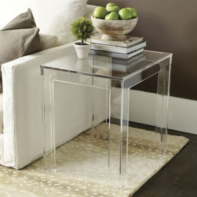 Felicity Acrylic Rectangular Side Table