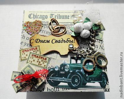 Коробочка для денег Гангстерская Свадьба - коробочка,коробочка для денег