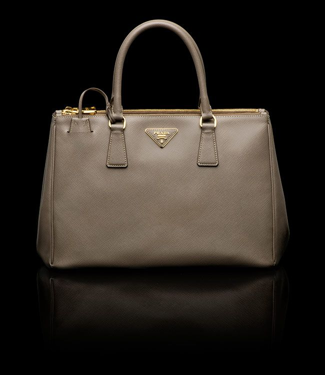 Clay Gray Tote From Prada
