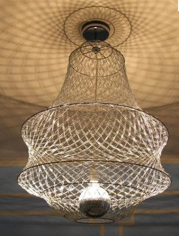 So cool! - from Upcycle Us: A chandelier made with paper clips
