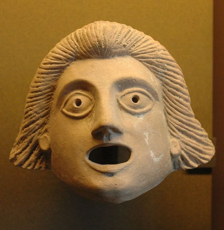 Ancient Greek theatre mask, 1st century BC