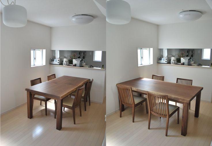 キッチン:キッチン 間取り 壁付けキッチン 食器棚 団地 ダイニングキッチン レイアウト 独立キッチン 間取り 限定 ホワイト カウンターキッチン ダイニングテーブル
