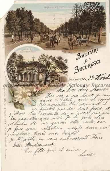 BU-F-01073-5-01090 Şoseaua Kiseleff din Bucureşti, 1888 (niv.Document)