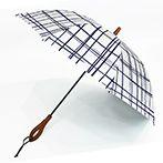 完全遮光日傘 ショート格子