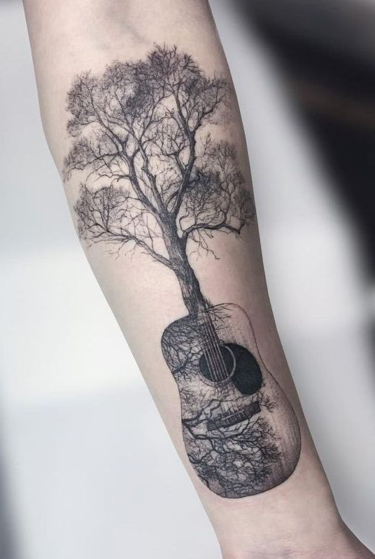 50 Gorgeous and Meaningful Tree Tattoos Inspired by Nature's Path | Quotes To Live By | Tattoos, Body art tattoos, Nature tattoos
