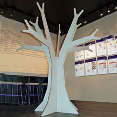 This simple Cardboard Tree makes a strong impression. #cardboard #display #cutout
