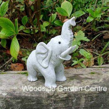 Marble Resin Standing Elephant Home Or Garden Ornament | Woodside Garden  Centre | Pots To Inspire