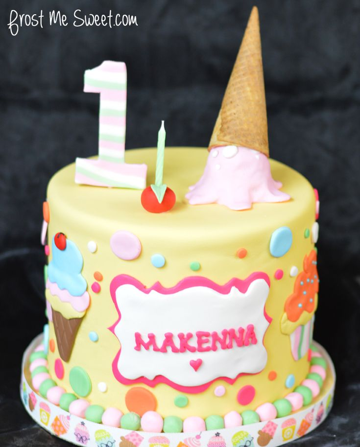 Ice Cream Themed Cake : 1000+ images about Cake Design for Ice Cream Theme on ...