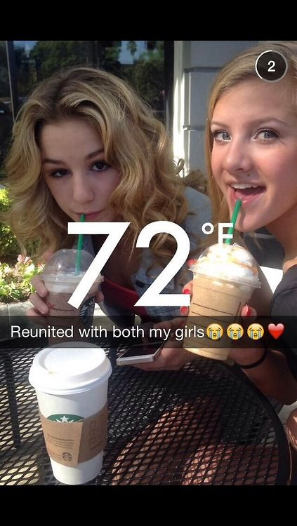 Me and Chloe reunited at Starbucks
