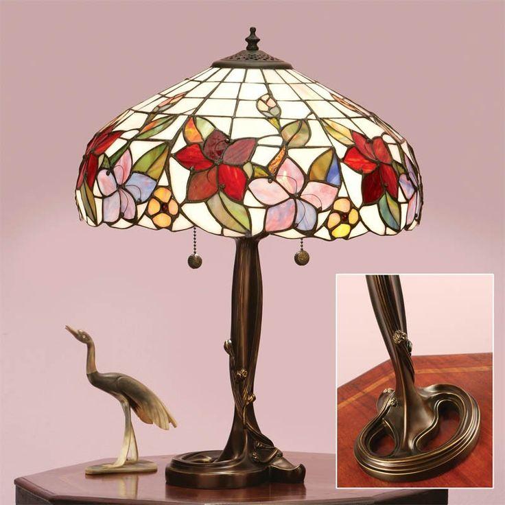 Lampada da Tavolo Tiffany con Fiori, Floreale