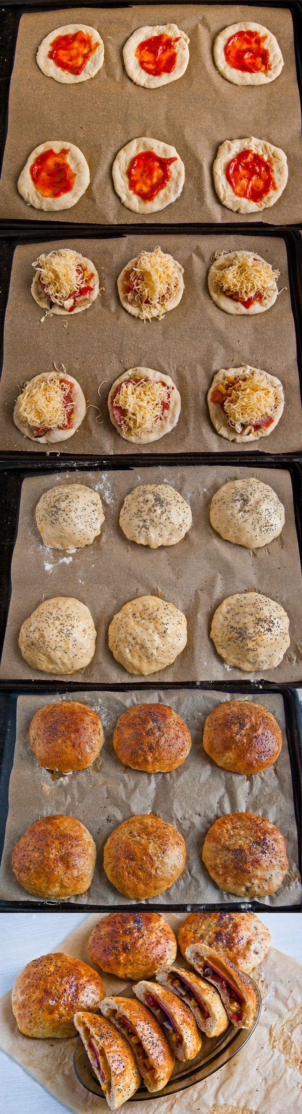 Bułki pizza to świetny pomysł na śniadanie do pracy czy szkoły. Połączenie które pewnie wielu zaciekawi.