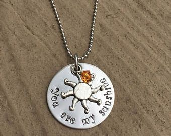 Hand stamped personalized  jewelry by StampedbyJodi on Etsy