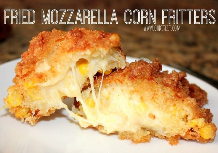 If you can imagine a slab of warm and nutty cornbread, studded with a sweet pop of whole kernel corn, and stuffed with lots of melty, gooey cheese..then you're close to understanding the greatness that are these fritters!!