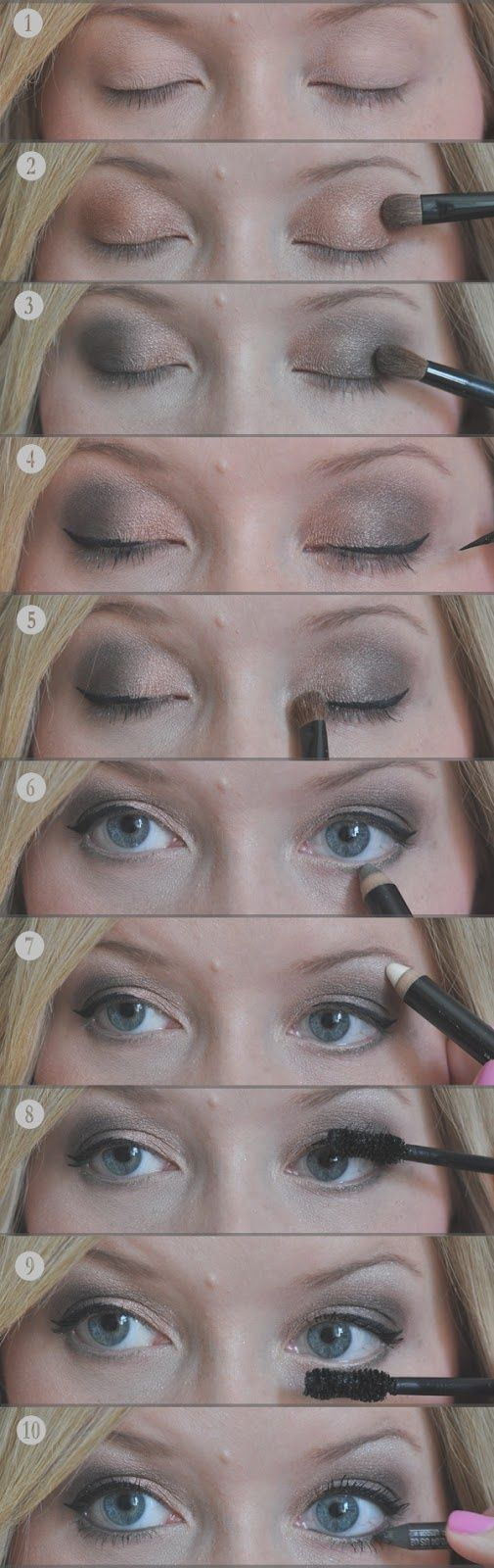 Easy smoky eye, courtesy of our friend Kate Bryan at The ...