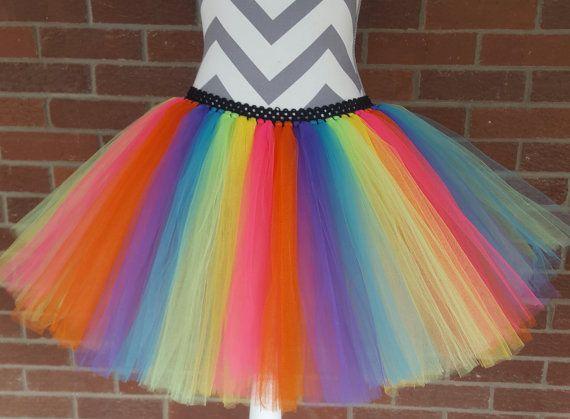 Regenboog Tutu jurk Clown Tutu voor meisjes door ClaraGCreations