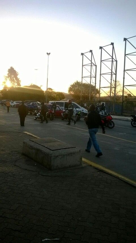 Swaziland border.Bikers rally.