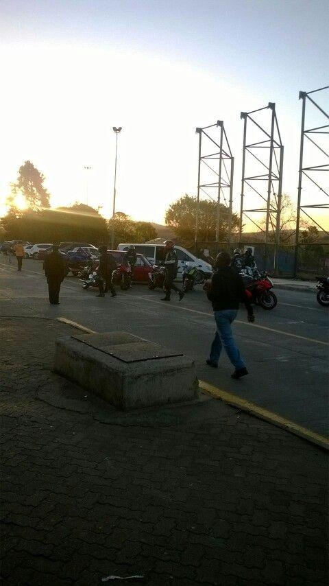 Swaziland border.Bikers rally.