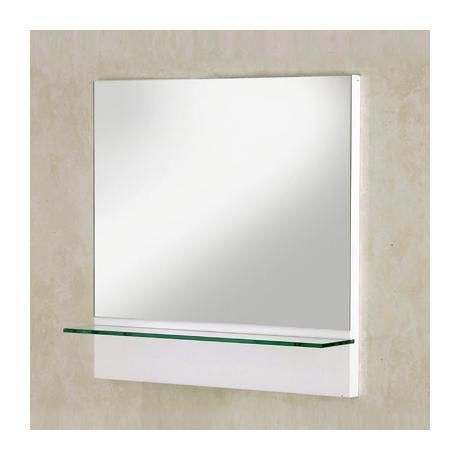 Croydex Unfold U0027Nu0027 Fit Mirror With Glass Shelf   Gloss White At Victorian  Plumbing UK