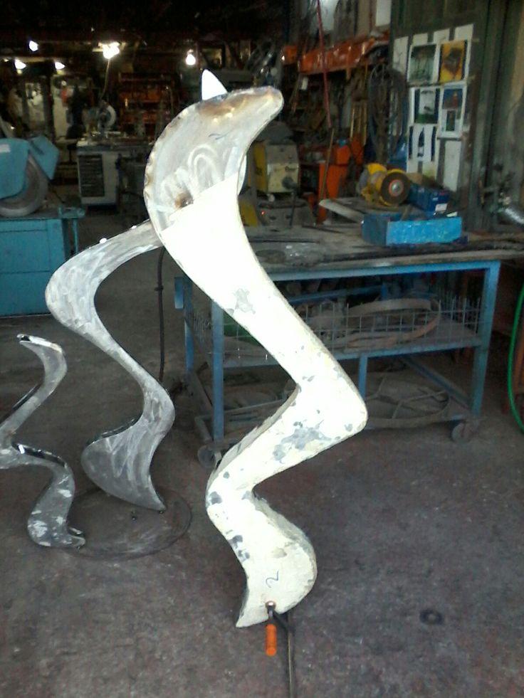 Ufuk koç imalatı metal heykel