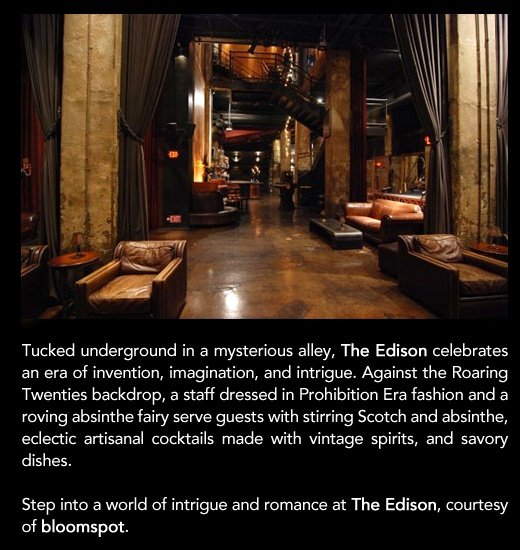 The Edison Giveaway - bloomspot: Add Rich, Coolest Bar, Edison Giveaway, Denver Residence, Dgw Project, Rich Texture Color Gloss, Hospitality Design Hotels, Beautiful Decay