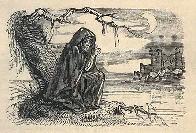 """Banshee - In Ireland and parts of Scotland, a traditional part of mourning is the keening woman (bean chaointe), who wails a lament - a Irish: Caoineadh, [ˈkɰiːnʲə] or [ˈkiːnʲuː], caoin meaning """"to weep, to wail"""". This keening woman may in some cases be a professional, and the best keeners would be in high demand."""